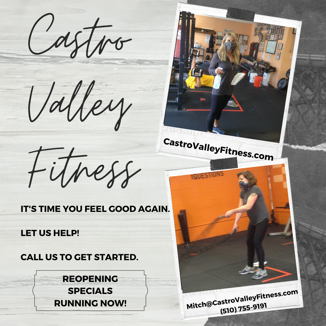 Castro Valley Fitness Reopening Flyer